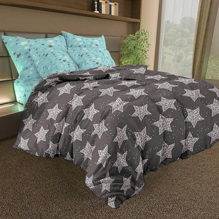 Комплект двуспального постельного белья Звезды