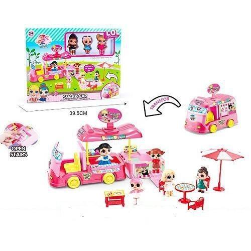 Игровой набор Кафе Кукла Лол  автобус кафе на колесах фастфуд Snack Car L.O.L surprise