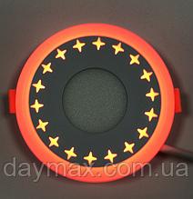 """LED світильник 3+3w """"Зірки"""" з червоною підсвіткою / LM535 LED панель Lemanso"""