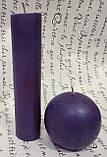 СВЕЧА цилиндр фиолетовая 16см (диам.3,6см), фото 2