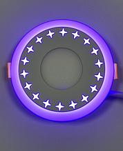 """LED світильник 6+3w """"Зірки"""" з синьою підсвіткою / LM540 LED панель Lemanso"""
