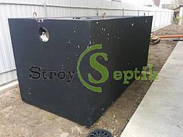 Септик бетонний монолітний 4куб.м, 2-х камерний