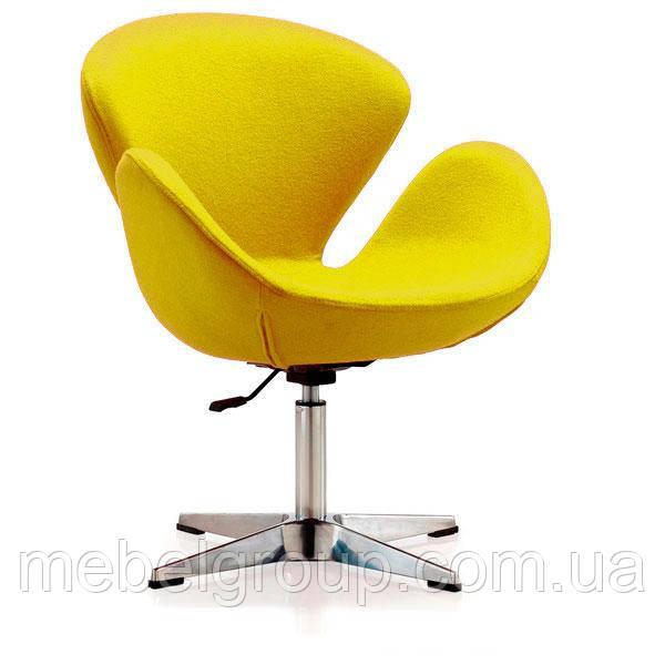 Кресло барное Сван желтое