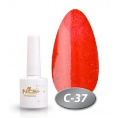 """Гель-лак Nice for you """"Cool"""" C- 37 (красные блестки), 8,5 мл"""
