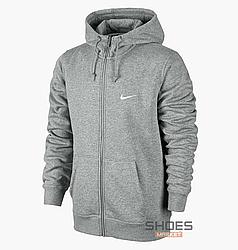 Толстовка Nike Hoodie Fleece Club Grey 804389-063, оригинал