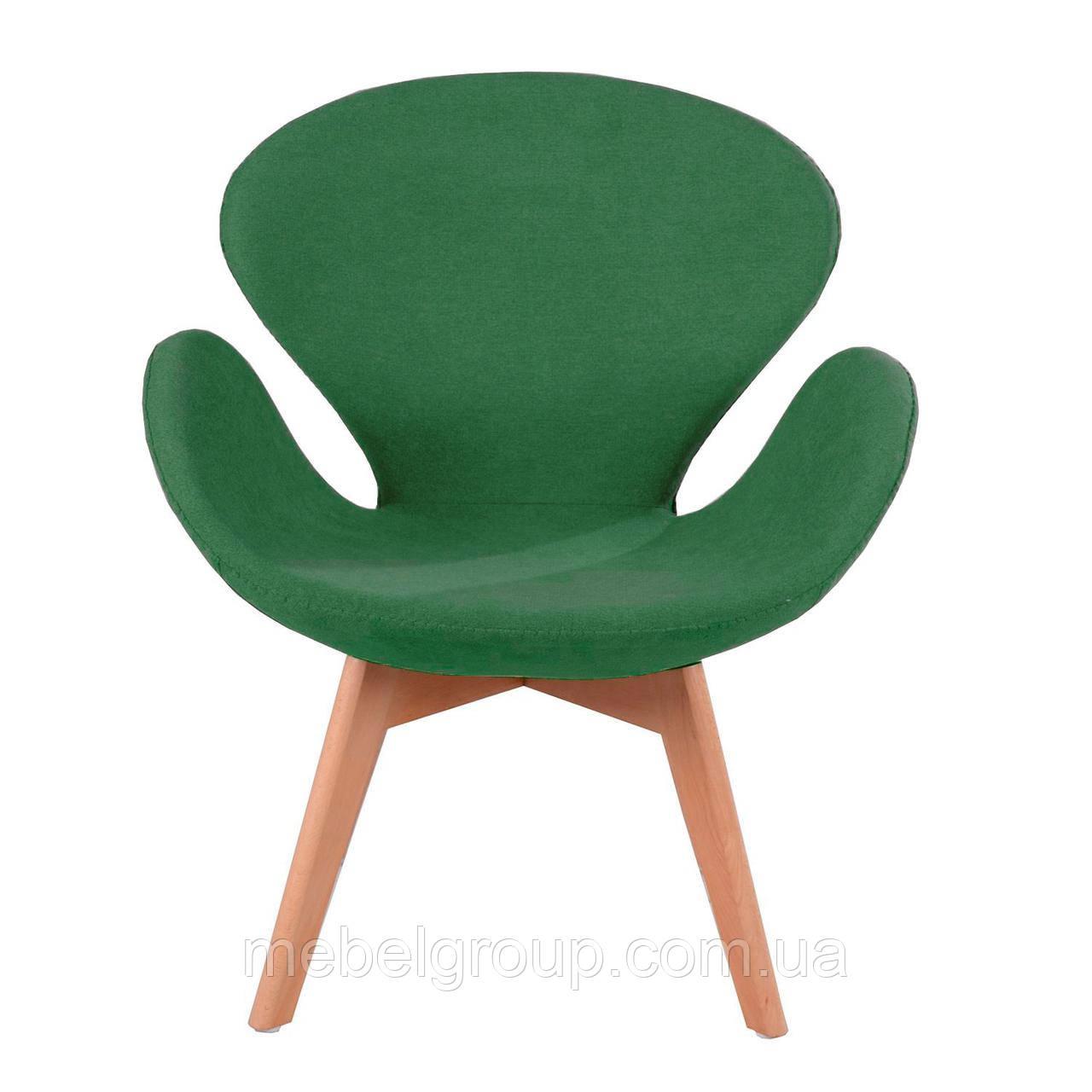 Кресло мягкое Сван зеленое
