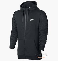 Толстовка Nike Hoodie Fz Club Black 804391-010, оригинал