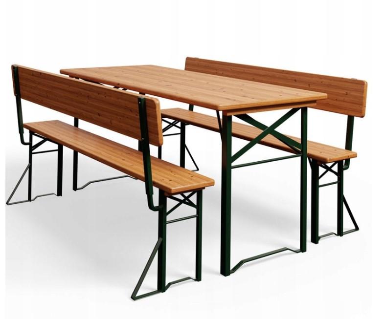 Пивной стол с лавками и спинкой  170 х 70см