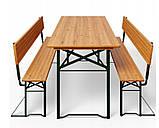 Пивной стол с лавками и спинкой  170 х 70см, фото 2