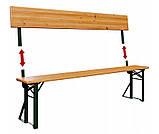 Пивной стол с лавками и спинкой  170 х 70см, фото 3