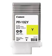 Картридж PFI-102Y Yellow для iPF500/600/700, желтый, 130мл (0898B001)