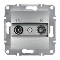 TV/R розетка проходная (4dB) Schneider Electric Asfora Алюминий
