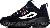 Мужские кроссовки Fila Disruptor II Black (фила дисраптор 2, черные)