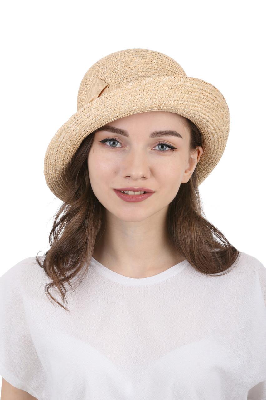 Шляпа из соломы женская ассиметричная