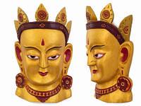 Деревянное панно маска Тара