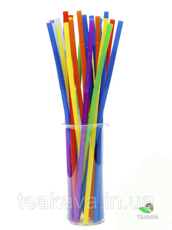 Трубочка Артистик 8 цветов d6, 26 см, 100 шт