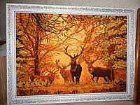 Картина из янтаря Олени