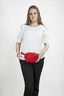 Модная женская маленькая сумка на пояс красного цвета, польский бренд BB232