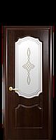 """Двери межкомнатные ТМ Новый Стиль """"Фортис Вензель"""" остекленные каштан, фото 1"""