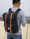 Рюкзак мужской с карманом для ноутбука черный., фото 4