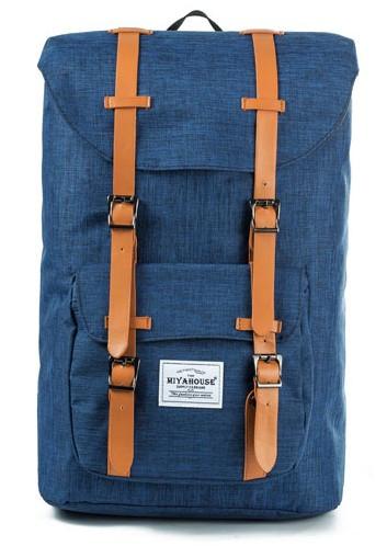 Рюкзак с карманом для ноутбука Miyahouse синий.(503\1)