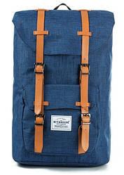 Рюкзак мужской с карманом для ноутбука синий.