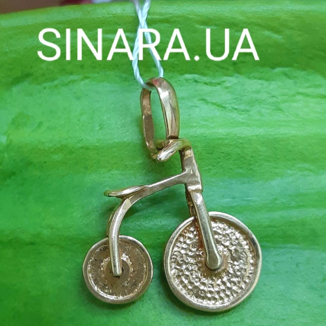 Золотая подвеска Велосипед - Кулон Ровер золото - Золотой Ровер кулон