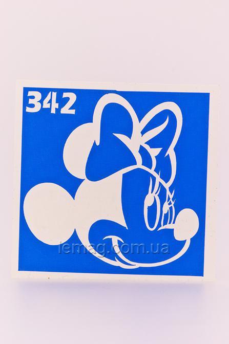 Boni Kasel Трафарет для био тату 6x6 см - 342, 1 шт