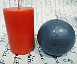 СВЕЧА цилиндр красная 12,5см(диам.3,6см), фото 3