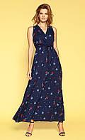 Zaps платье Elvia темно-синего цвета, коллекция весна-лето 2019.