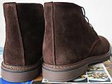Clarks Men Desert Boot мужские коричневые замшевые ботинки реплика дезерты весна осень 2020, фото 6