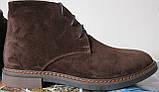 Clarks Men Desert Boot мужские коричневые замшевые ботинки реплика дезерты весна осень 2020, фото 3
