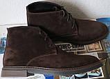 Clarks Men Desert Boot мужские коричневые замшевые ботинки реплика дезерты весна осень 2020, фото 2