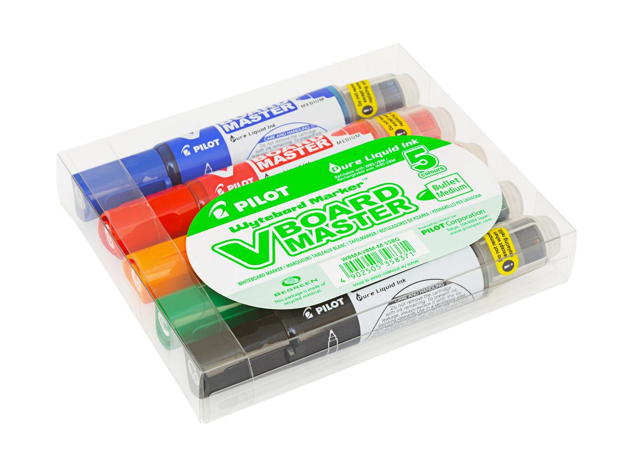 Набор маркеров Pilot для маркерных досок 5 цветов
