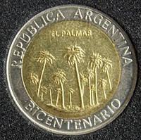 Монета Аргентины 1 песо 2010 г.