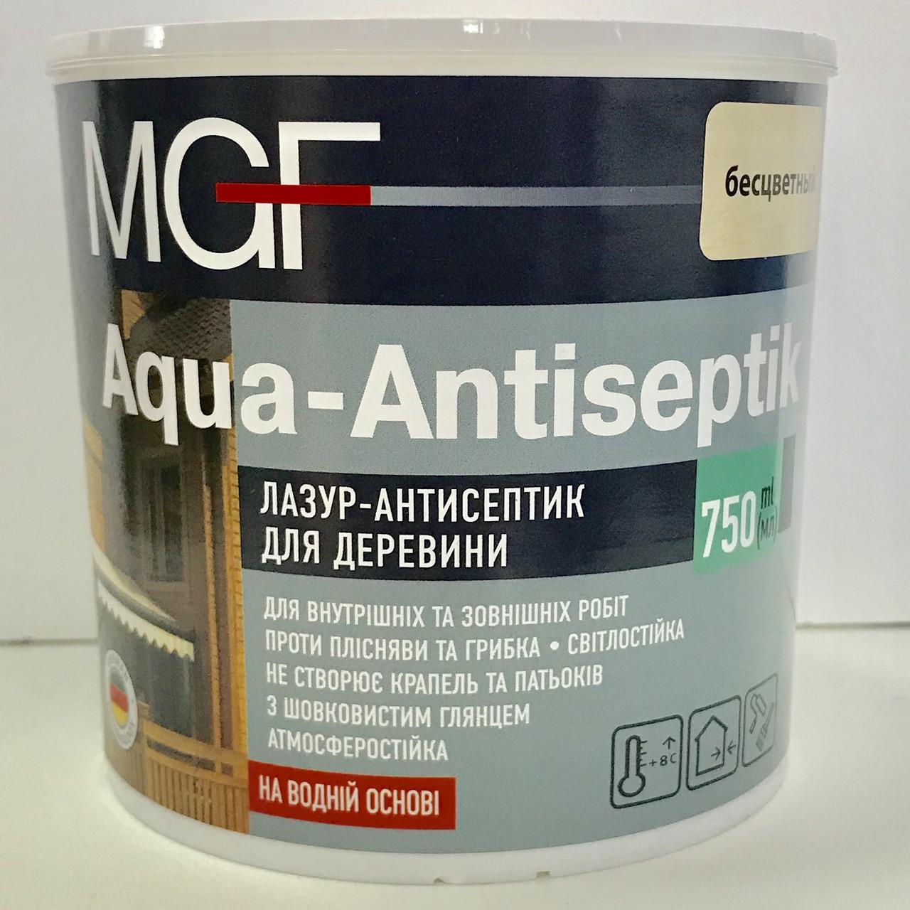 Лазурь-антисептик для дерева MGF AQUA-ANTISEPTIK 0,75л