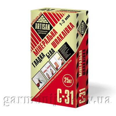 Шпаклевка ARTISAN C-31 цементная гладкая, 25 кг