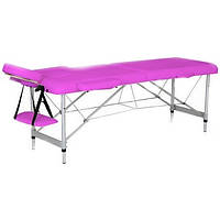 Массажный стол 2-х секционный HouseFit HY-2010-1.3 розовый