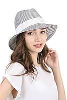 Женская шляпа федора черно-белая