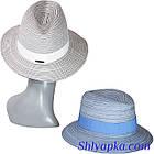 Женская шляпа федора голубая, фото 2