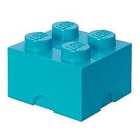 Четырехточечный бирюзовый контейнер для хранения Lego 40031743