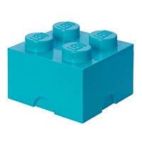 Четырехточечный бирюзовый контейнер для хранения Lego 40031743, фото 2
