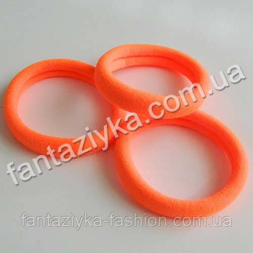 Резинка бесшовная микрофибра 4см, оранжевая