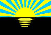 Флаг Донецкой области 0,9х1,35 м. шелк