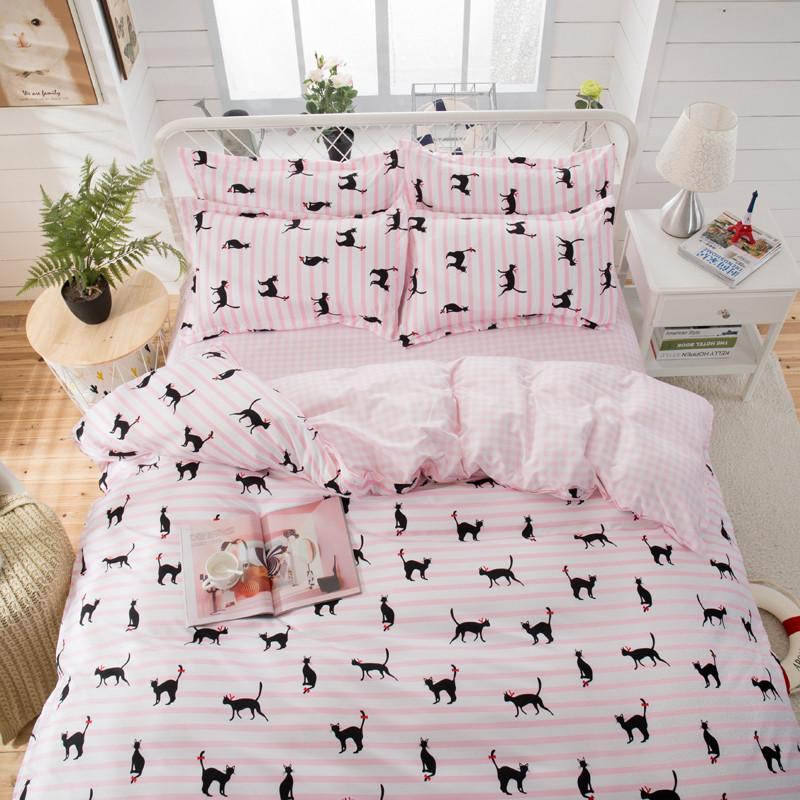 Комплект постільної білизни Чорні кішки (полуторний)