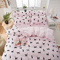 Комплект постільної білизни Чорні кішки (полуторний), фото 1