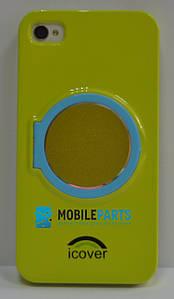 Пластиковый Чехол-накладка Fashion Classic для iPhone 4 | 4S (Салатовый)