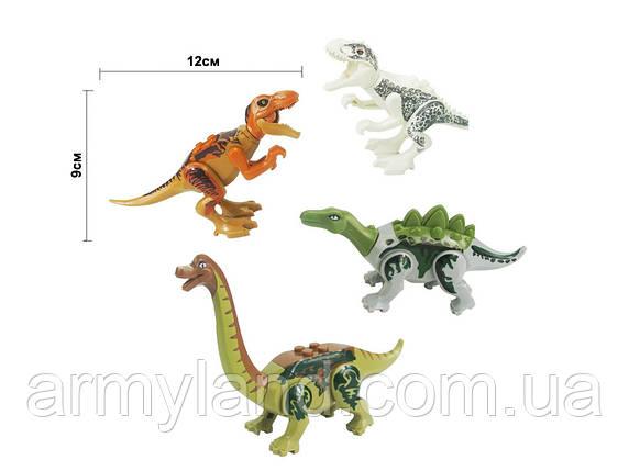 Набор №2 Динозавров 4шт Конструктор, аналог Лего, фото 2