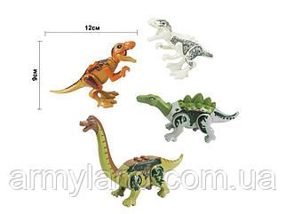 Набор №2 Динозавров 4шт Конструктор, аналог Лего
