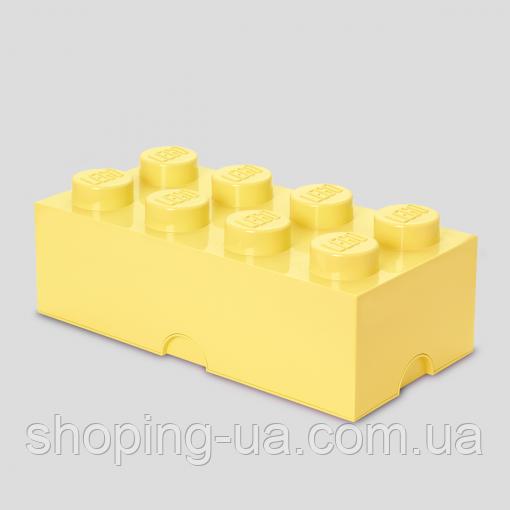 Восьми точечный светло желтый контейнер для хранения Lego 40041741
